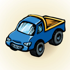 Toy car. Vector drawing