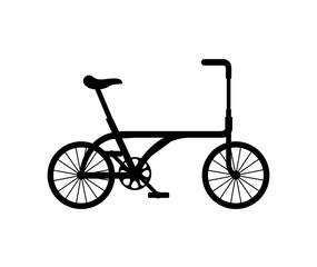 bicycle vehicle retro icon vector illustration design