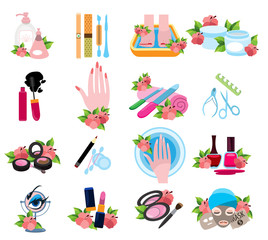 Icons for beauty salon