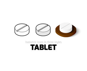 Tablet icon in different style