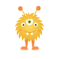 Funny cartoon monster illustration. Eps10 vector.
