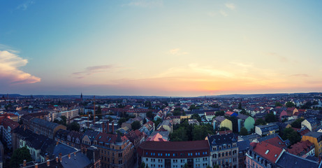 Dresden Neustadt Sonnenuntergang