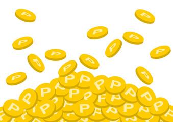 ポイント コイン メダル イラスト 白バック