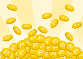 ポイント コイン メダル イラスト