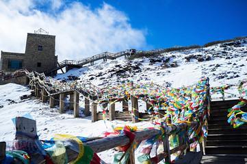 Landscape of Shika Snow Mountain (Blue Moon Valley) located at Shangri-La (Zhongdian), Yunnan, China.