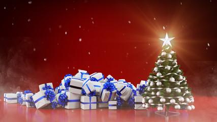 Hintergrund zu Weihnachten mit Geschenken
