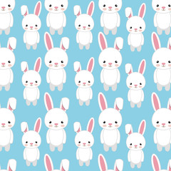 cute rabbit animal. bunny background. colorful design. vector illustration