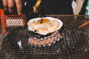 Fresh grilled shell