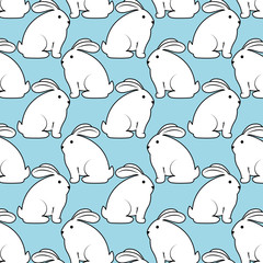 cute rabbit animal. bunny background. colorful design. vector illustration