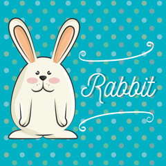 cute rabbit animal. bunny cartoon. colorful design. vector illustration