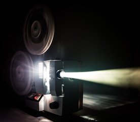 Running Old film projector