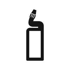Plastic bottle of drain cleaner icon in simple style on a white background vector illustration