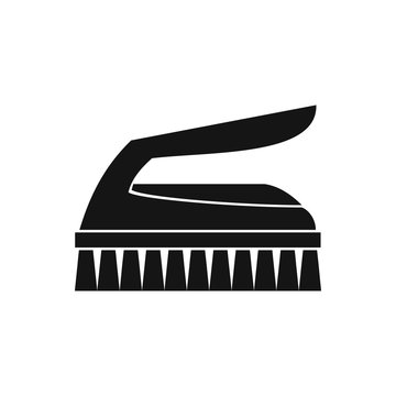 Brush for cleaning icon in simple style on a white background vector illustration