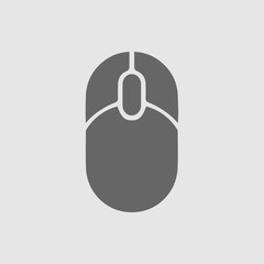 Computer mouse vector icon. Simple isolated vector symbol. Computer mouse icon.