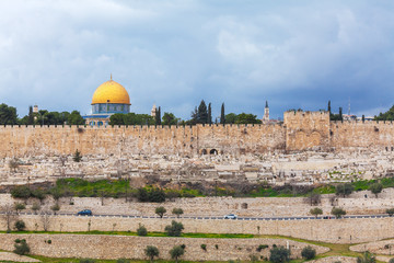 Dome of the Rock on Temple Mount of Old City, Jerusalem
