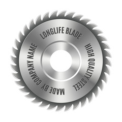 Steel blade for the saw, vector illustration.