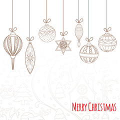 Christmas and New Year invitation card.