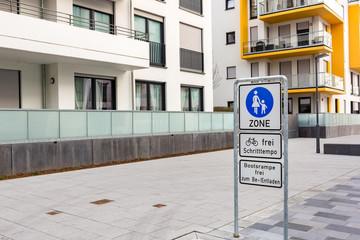 Fussgängerzone in der Stadt