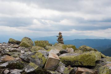 Stack of stones zen.
