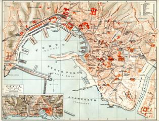 Map of Genoa (from Meyers Lexikon, 1895, 7/334/335)