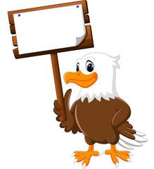 Eagle cartoon posing