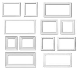 white frame wood background image