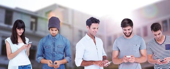 Friends text messaging through smart phones
