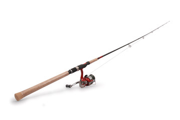 Fishing rod with a reel Wall mural