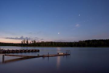 Sunrise stars lake