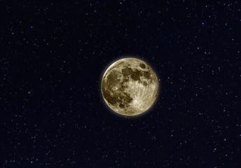 Moon stars space
