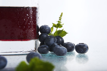 blueberries with blueberry juice 4