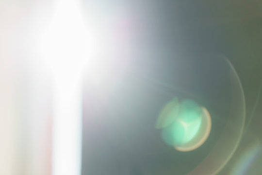 real lens flare with light leak