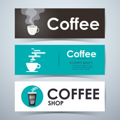 Coffee banners. Template Layout Website. Vector illustration