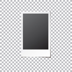 Instant Photo Frame Isolated Vector