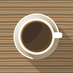 Coffee Cup Top View Flat Icon