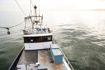 High Viewpoint of Bridge of Fishing Vessel
