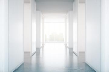 Concrete hall interior