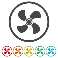 Ventilation sign icon. Ventilator symbol