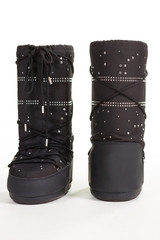 Unusual winter boots for a snowy winter.