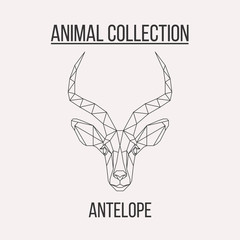 Geometric antelope head