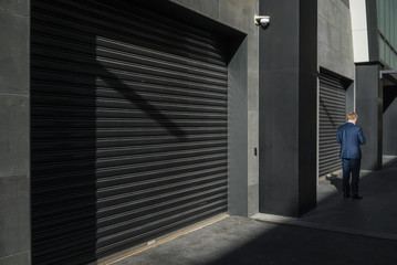 Exterior Of Closed Shops