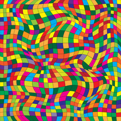 Vector illustration of a seamless repeating pattern of colored squares