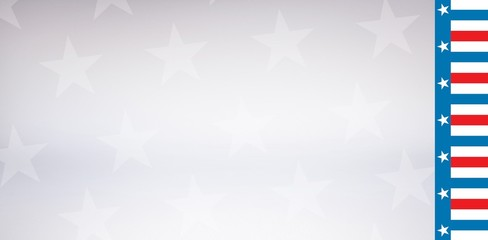 American flag against stary background