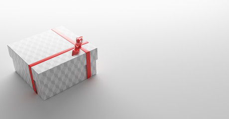 Pacchetto regalo compleanno con fiocco rosso