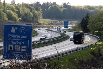 Autobahn A3 im Spessart Bayern
