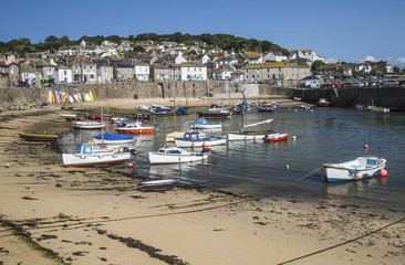 Harbour view at Mousehole, Cornwall, England, UK