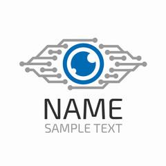 Cyber eye logo.