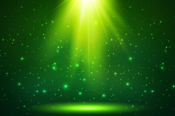 Green magic top light vector horizontal background