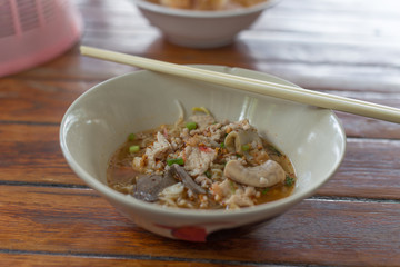 Thai spicy noodle