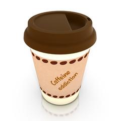Caffeine addiction coffee cup